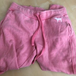 Pink vs joggers size small lightly worn